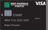 Carte de crédit Visa Classic BNP Paribas Fortis