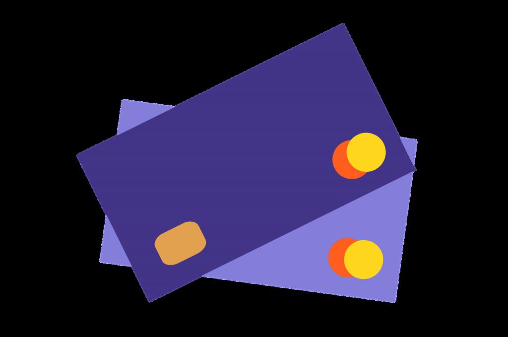 2 cartes de crédit Mastercard