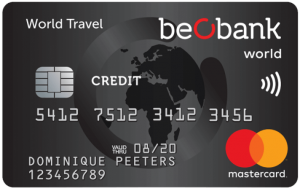 Beobank mastercard world travel