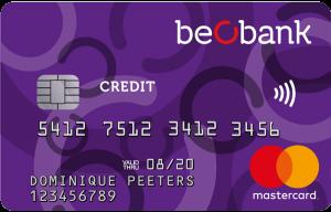 carte de crédit Beobank mastercard classic