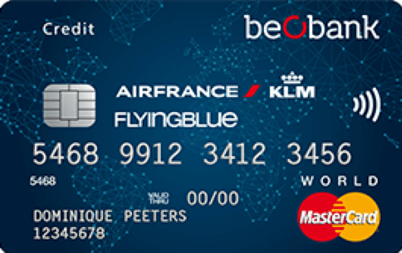 carte d crédit Beobank Flying Blue World Mastercard