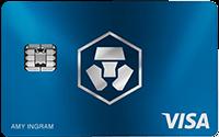 carte visa crypto bleue