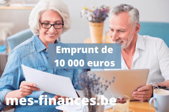 Emprunt de 10 000 euros