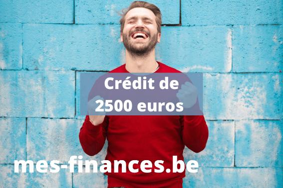 crédit de 2500 euros rapide