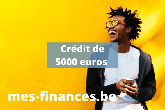 crédit de 5000 euros