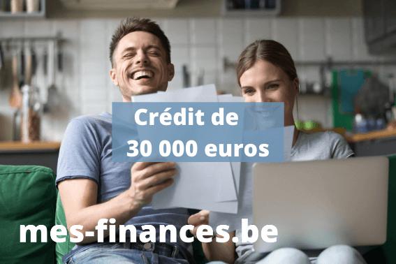 crédit de 30 000 euros