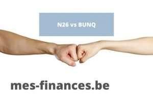 neobanque n26 et bunq, laquelle choisir