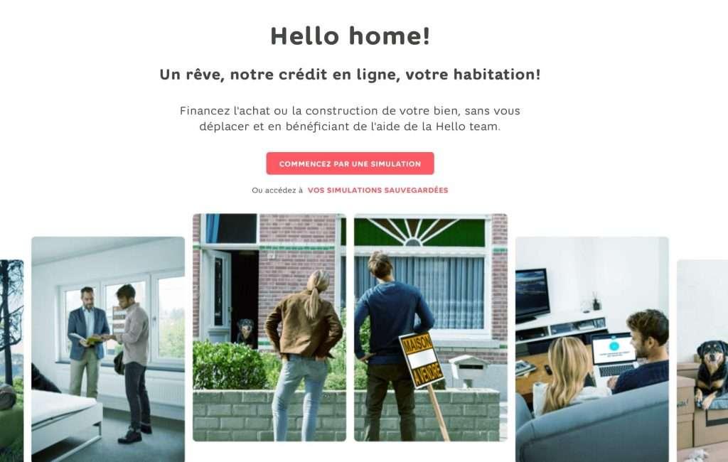 outil de simulation du crédit hypothécaire Hello Bank