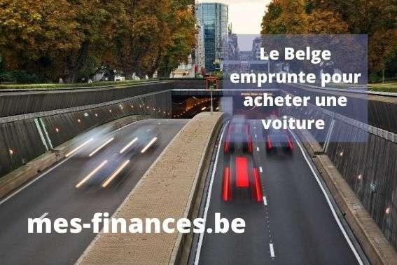 le belge emprunte pour acheter une voiture - titre