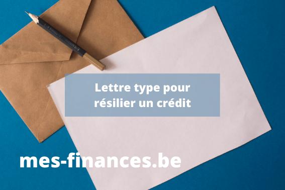 lettre type pour résilier un crédit - titre