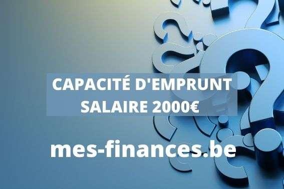 Capacité d'emprunt pour un salaire de 2000 €