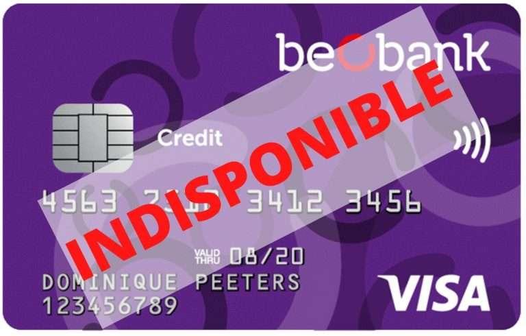 beobank visa non commercialisée