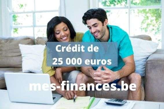 crédit de 25000 euros - titre