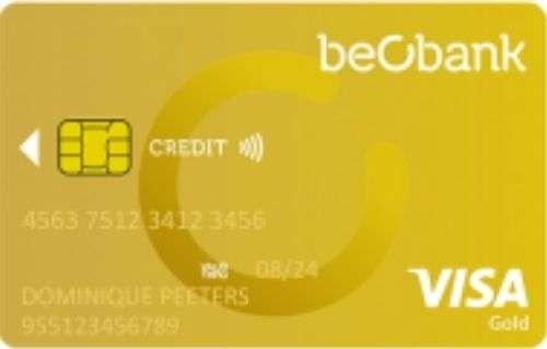 carte de crédit Visa Gold de Beobank