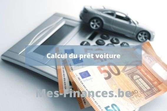 calcul prêt voiture
