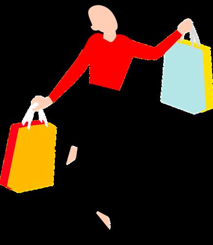 femme qui fait du shopping avec sa carte de crédit